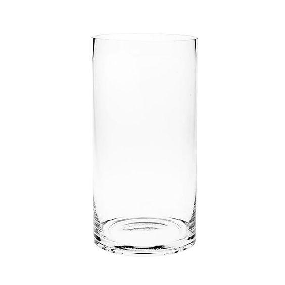 Vase Zylinder Glas klar ca D:15 x H:30 cm