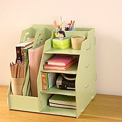 DIY Multifuncional madera sólida Organizador de escritorio | LightInTheBox