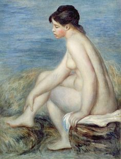 Seated Bather, Pierre Auguste Renoir