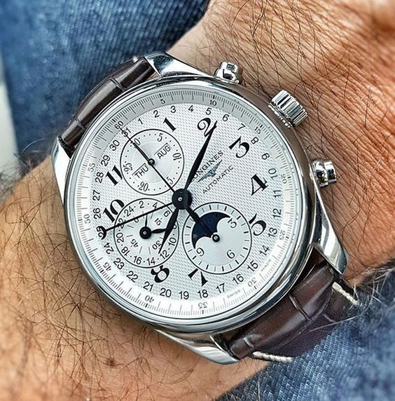 Name a complication and this watch has it! Be it Day, Date, Month, Chronograph…