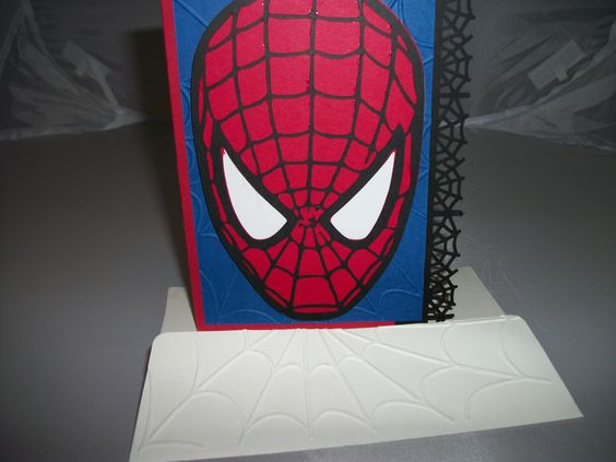 Spiderman birthday card I made for my nephew using my silhouette