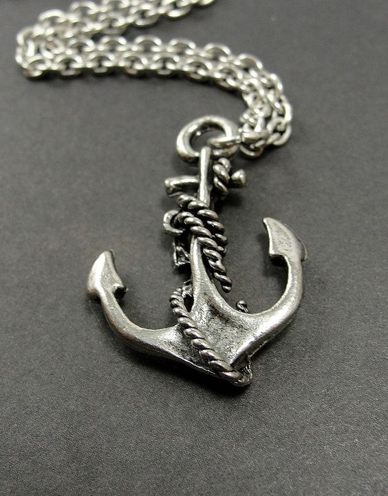 Anchor Necklace   Silver Plated Charm on a 17 by treasuredcharms, $9.00