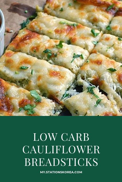 Low Carb Cauliflower Breadsticks Cauliflower Breadsticks