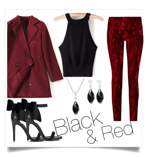 """""""Black & Red"""" by mascardibeauty on Polyvore featuring Haider Ackermann and Miss Selfridge"""
