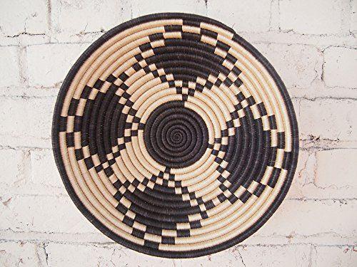 African BasketBLACK Rwanda BasketWoven Basket