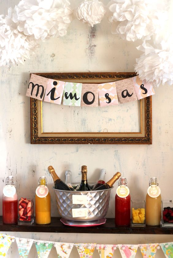 Having a daytime #bachelorette party? We love the idea of a mimosa bar!