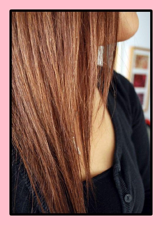 Mahagoni haarfarbe auf blond