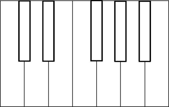 Piano Keys Coloring Sheet Clip Art Vector Clip Art Online Piano Keys Piano Color