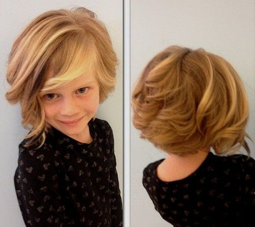 little girls curly bob hairstyle: