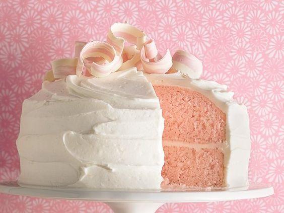 Pink Almond Party Cake: Almond Party, Cake Recipe, Pretty Cake, Pink Cakes, Almond Cakes, Party Cakes, Birthday Cake