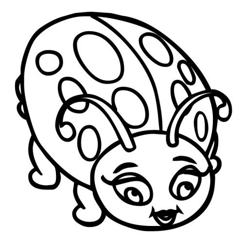 Ladybugs Big Eye Coloring Pages coloring pics Pinterest