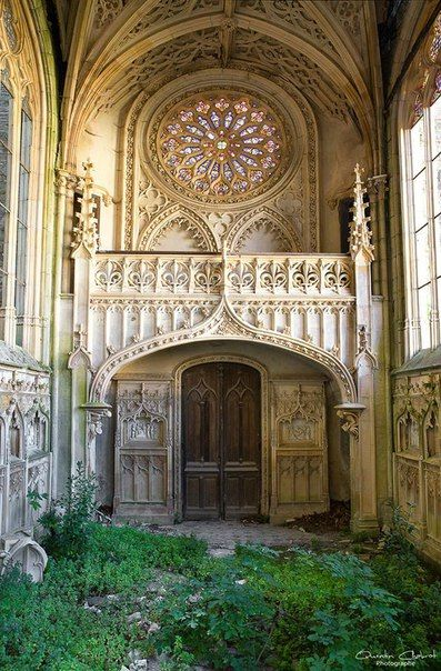 """floralwaterwitch: """" ghostlywatcher: """"  Abandoned Chapel in France. """" This is so beautiful ✨ """""""