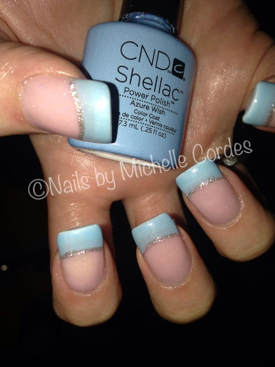 Shellac over sculptured acrylic nails by Michelle Cordes