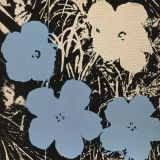 Flowers, c.1965 (3 blue, 1 ivory) Prints by Andy Warhol