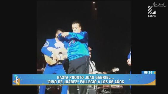 ESPECTACULOS 29/08/16 ADIOS JUAN GABRIEL, SU ULTIMO CONCIERTO EN LOS ANG...