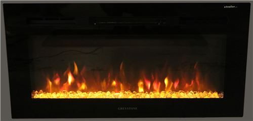 Greystone 31 Electric Fireplace With Crystals Recessed Mount