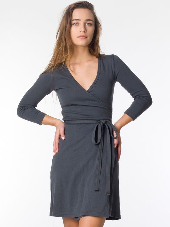 Interlock Wrap Dress  Pinterest  Photos Casual and American apparel