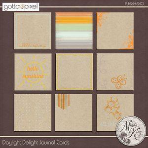 Daylight Delight Digital Scrapbook Journal Cards. $2.99 at Gotta Pixel. www.gottapixel.net/