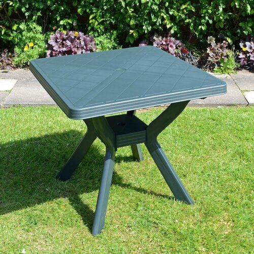 Livia Plastic Dining Table Sol 72 Outdoor Colour Green Dining