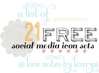 love notes by lauryn: 21 free social media icon sets