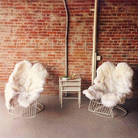 Design Love Fest / fuzzy seats. @The Unique Space