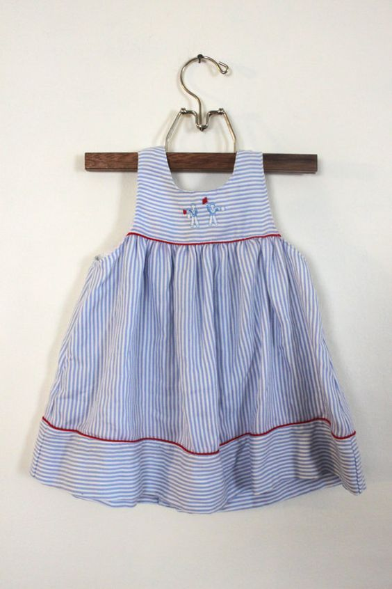Vintage Girl Sailor Dress with Purse Size 2 by PeppermintandCocoa, $11.00