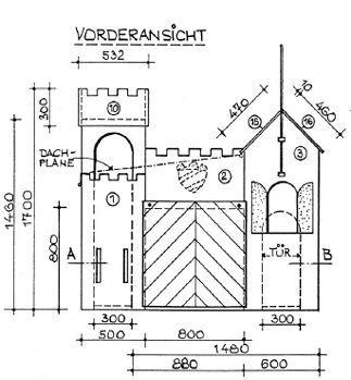 Bauplan Ritterburg - Spielburg selber bauen.