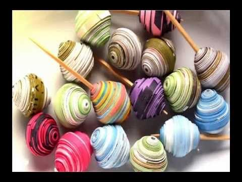 ▶ How to Make Glass Paper Bead Necklace - YouTube