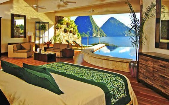 Jade Mountain Santa Lucía, un romántico resort construido en armonía con la…