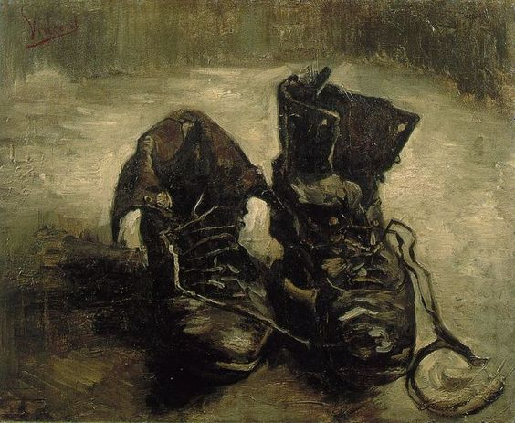 A pair of shoes, 1887