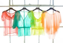 I love sheer tops in the summer!