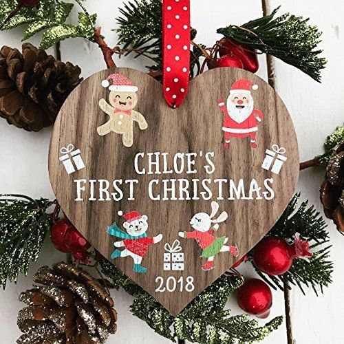 PERSONALISED BABY/'S FIRST 1st CHRISTMAS TREE DECORATION BAUBLE