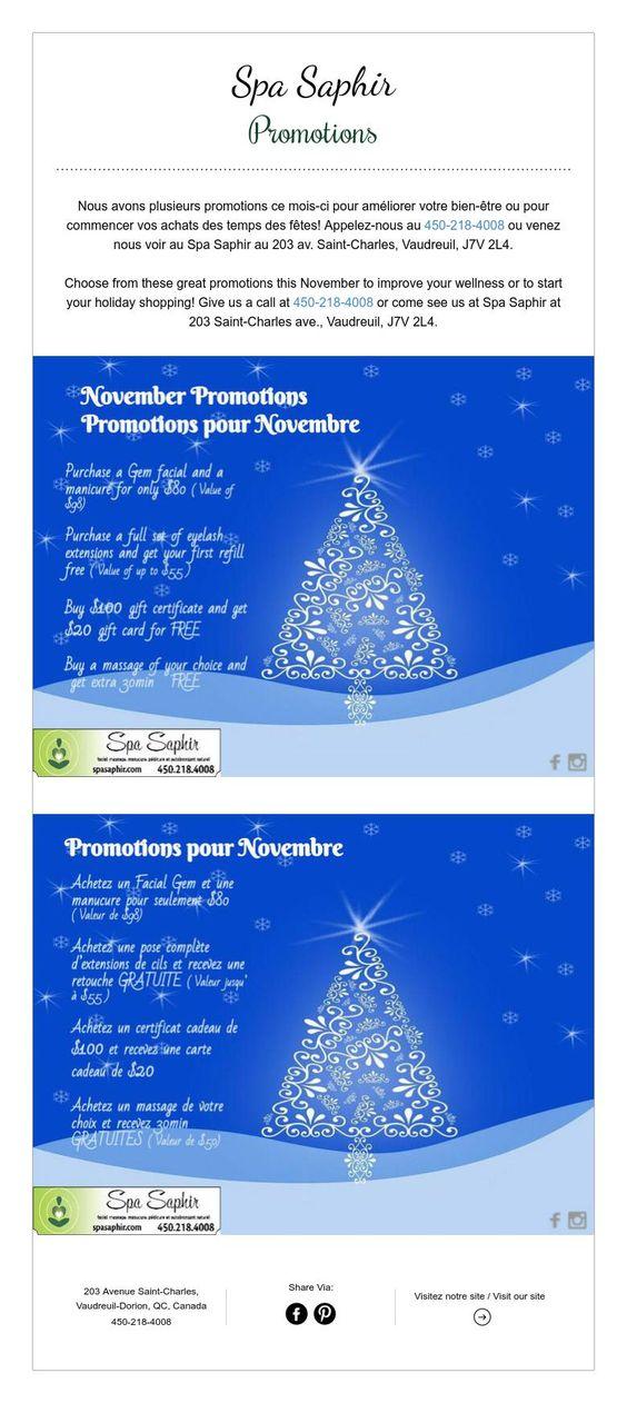 Spa Saphir  Promotions
