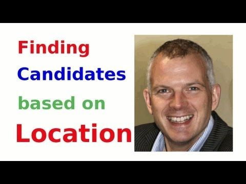 Finding Candidates by Location (LinkedIn, Twitter and Boolean Search). A video for Recruiters wanting to source candidates in a particular area. Lots of tips and tricks in social recruitment to get the best candidates. For more about this see http://www.intel-sw.com/blog