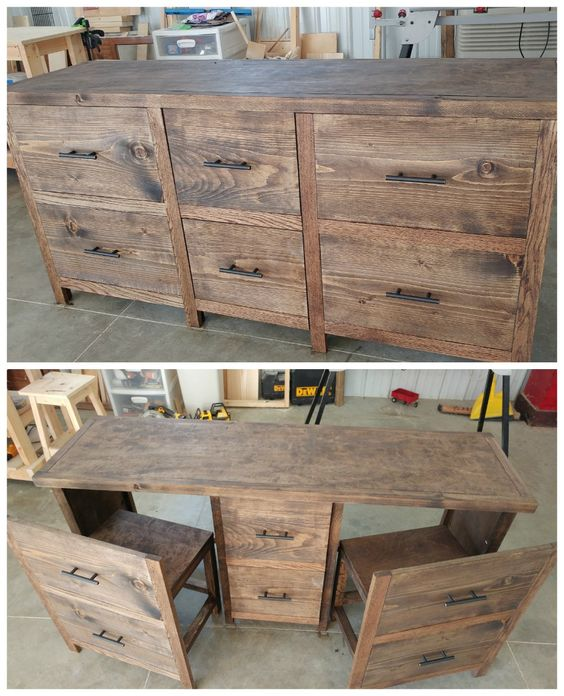 hide a desk anywhere hidden desk do it yourself home projects from ana white ana white completed eco office desk