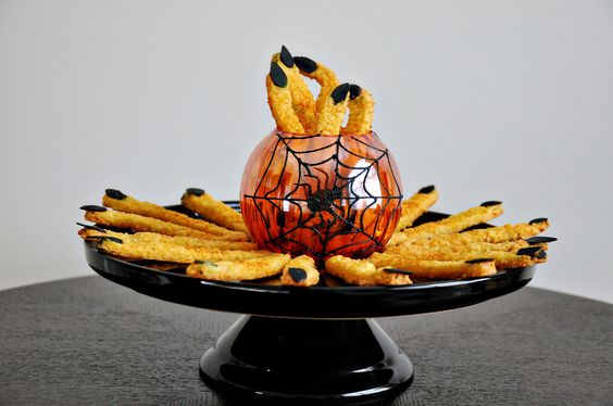 Cheddar Witches' Fingers (Spooky Cheese Straws) - Cook Like A ChampionCook Like A Champion