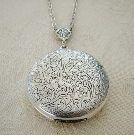 extra heart large plain lockets closed locket silver shaped