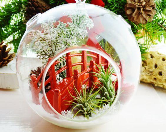 Japanese Garden Terrarium With Airplants By BeachCottageBoutique, $49.95 |  MORETHANATEAM | Pinterest | Garden Terrarium, Terraria And Japanese