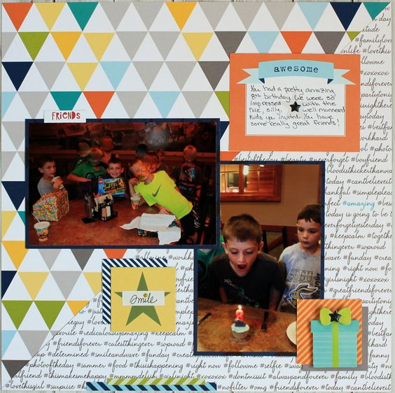 Awesome Friends Layout using Bella Blvd Max and Lucky Stars.