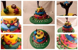Cozinha com Paixão: Bolo de aniversário Angry Birds