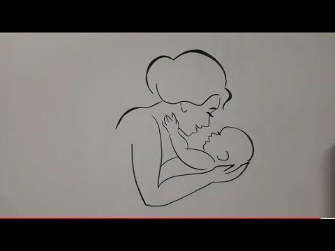 رسم سهل رسم ام تحمل طفلها رسومات سهله تعليم الرسم للاطفال خطوة بخطوة Youtube Art Drawings Simple Art Drawings Art