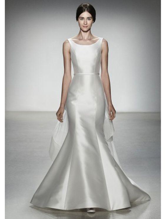 Raw silk wedding dress wedding dresses pinterest for Satin silk wedding dresses