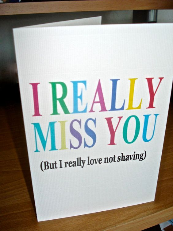 """Awesome deployment cards - but my hubs would just laugh & say """"well you dont shave all that often when I'm home!"""""""