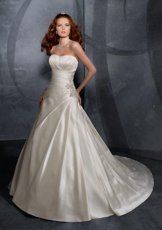 Mori Lee Blu 4704 Wedding Dress. Great Lines and style. #wedding #weddingdress #morilee #morileeblu
