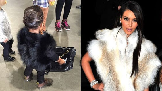 "While Kim Kardashian has said her daughter North West will have to ""work for what she wants,"" the one-year-old is already donning some pretty pricey styles. Kim hosted a play date for her little girl, and like her mommy, North was dressed to the nines. Donning a black fur vest, brown boots, black jeans and a Chanel handbag, Kim and Kanye West's baby girl seemed to fit right in with her high-fashion family. PHOTOS: Blue Ivy's Most Adorable Moments ""She's ready!"" the Keeping Up with the…"