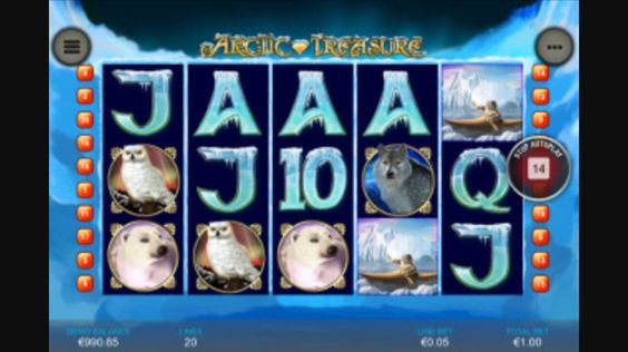 The Arctic Treasure mobile slot from Playtech.