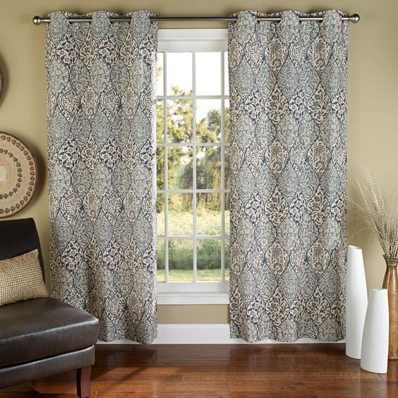 Blue Grommet Curtains - Blue Curtain Panels | Curtains for the ...