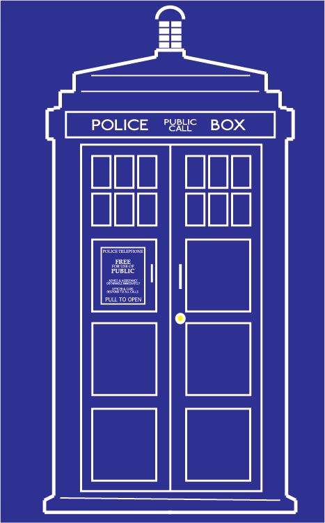 I Needed An Outline Vector Version Of The Tardis And