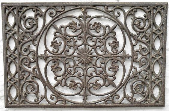 Antique Cast Iron Door Mat Rustic Front Or Back Door Decor Antique Cast Iron Iron Doors Antiques