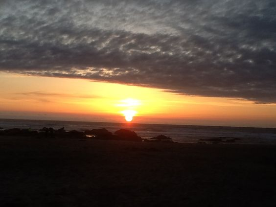 Beautiful beach sunset at Lincoln City, OR 5/2015